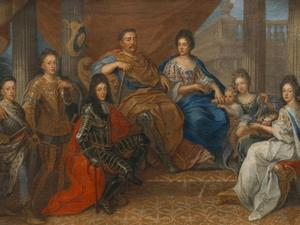 John III Sobieski with his family, painting by Henri Gascar