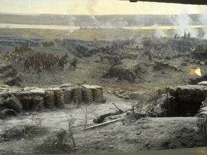 Fragment of the panorama The Siege of Sevastopol